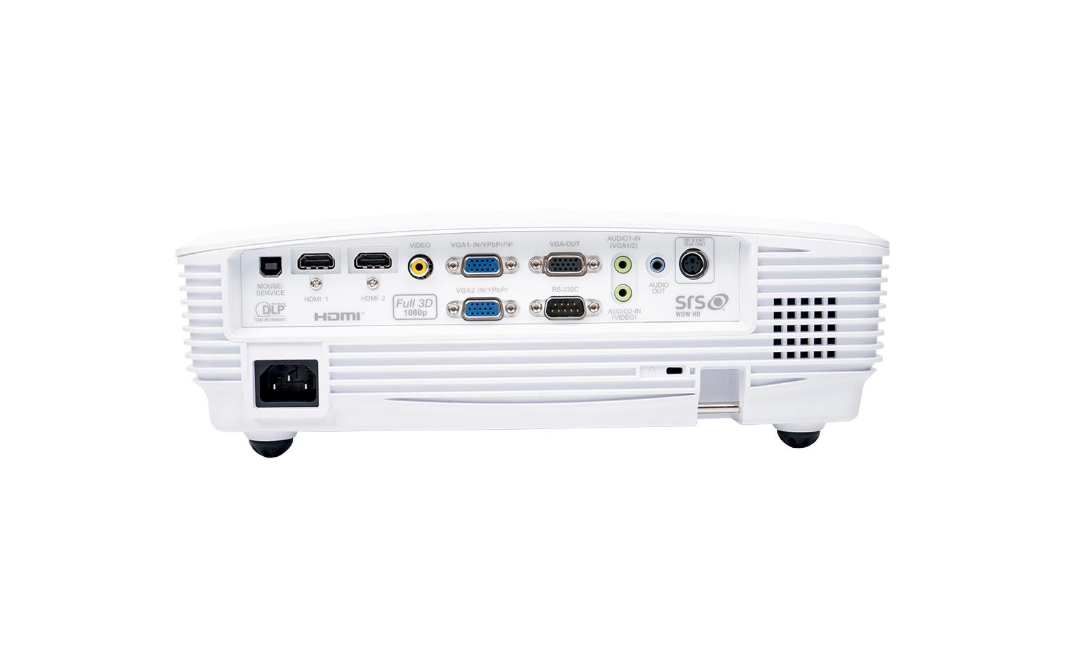 Panel przyłączeniowy w projektorze Optoma HD25-LV