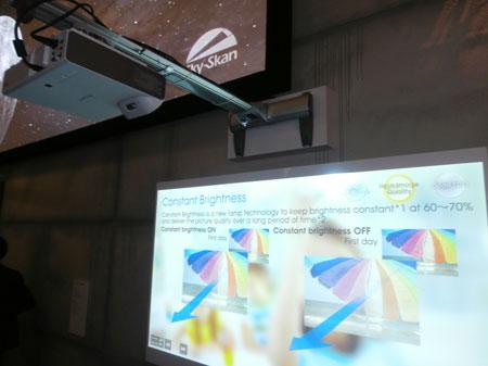 Jeden z nowych projektorów Sony serii S w akcji